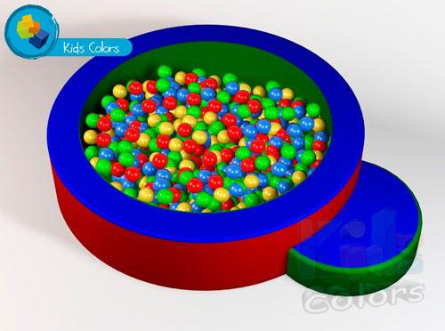 alberca de pelotas para estimulación temprana